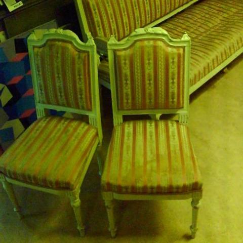Neoclassicism 18th century 2 chairs makers mark Eriksson