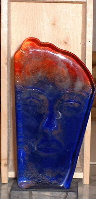 Bjorn Ekegren signed Glass sculpture