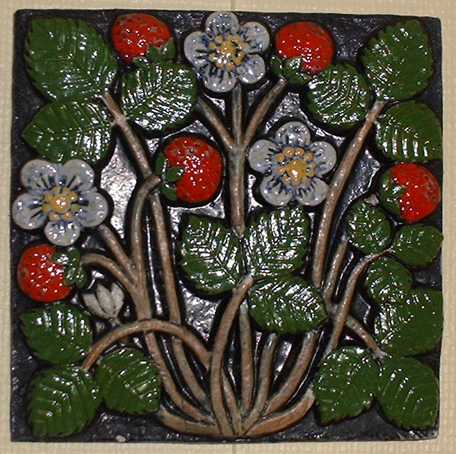 *Lisa Larsson cheramic wallplatStrawberries.e