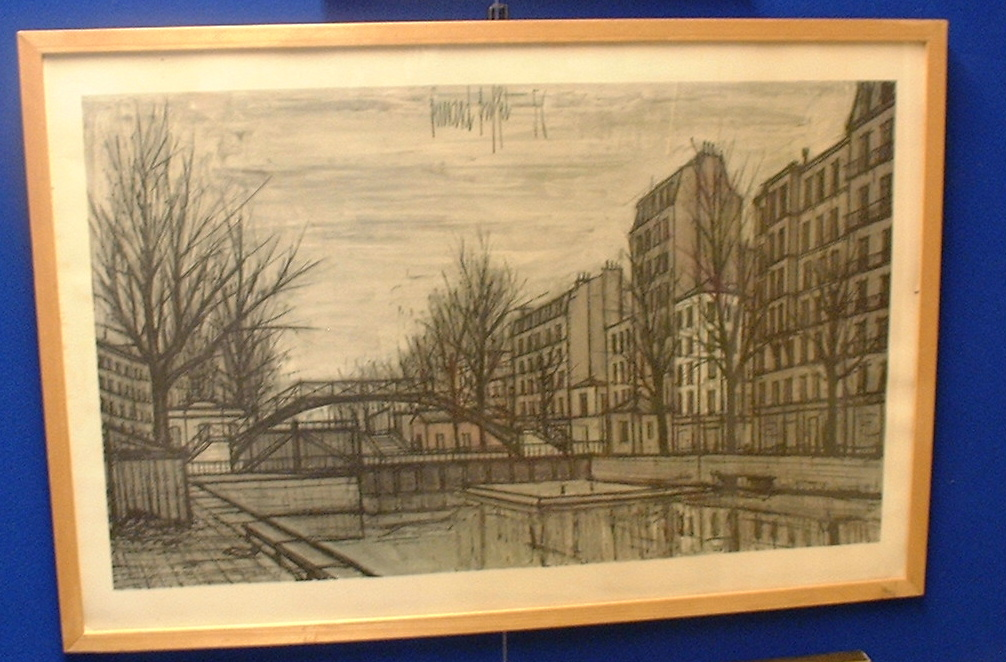 Bernard Buffet poster-lithography printed on thick paper!