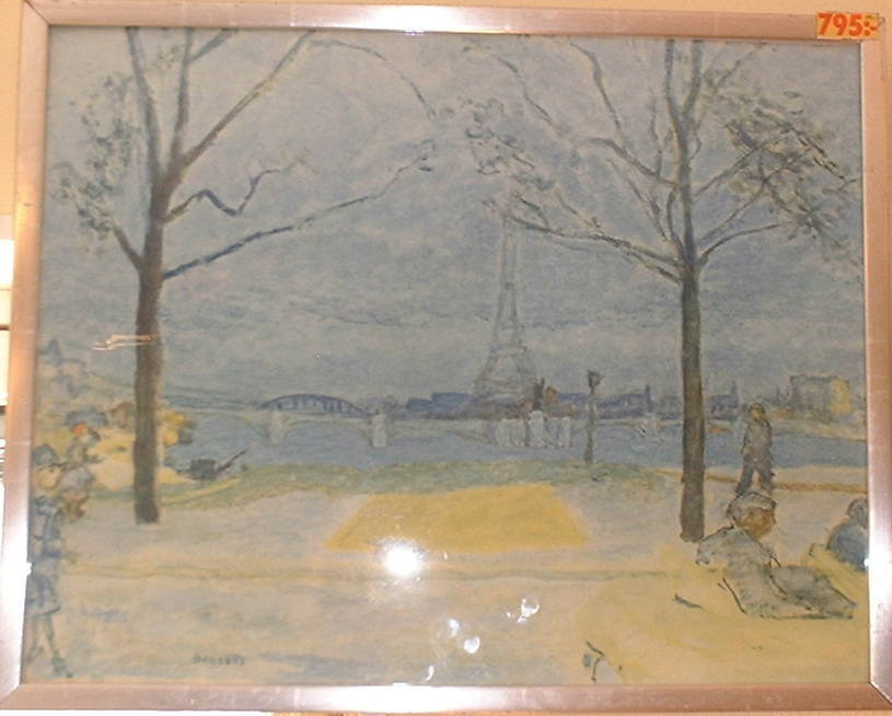 Bonnard Paris framed poster