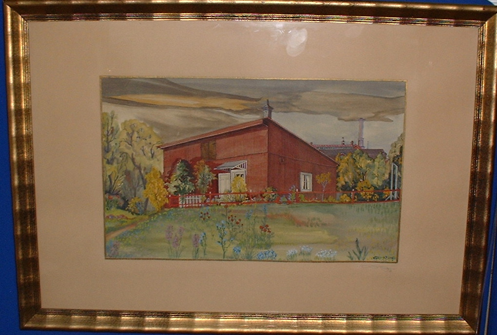 Artist: Ole Ring(1902-1972) Water colour sign O Ring