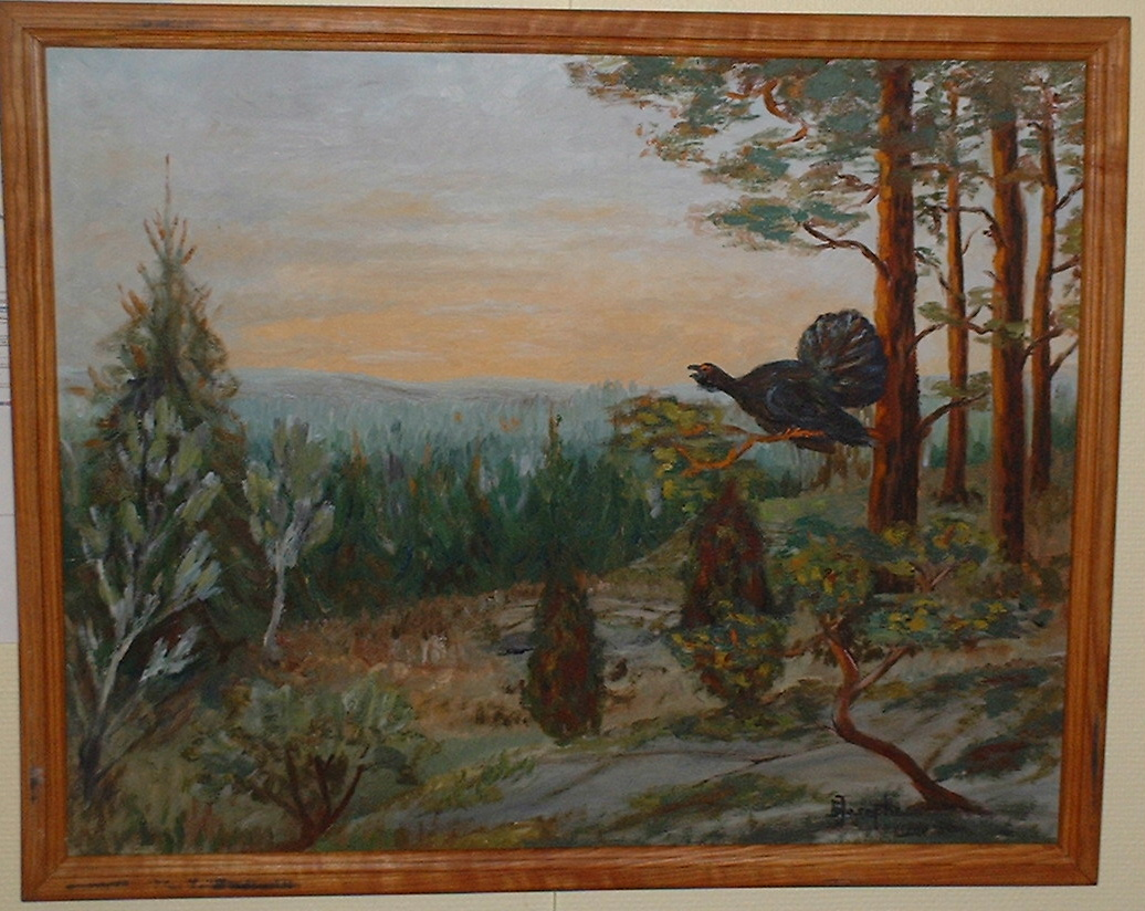Oil painting signed E Josephson Obs! Kept in bank.
