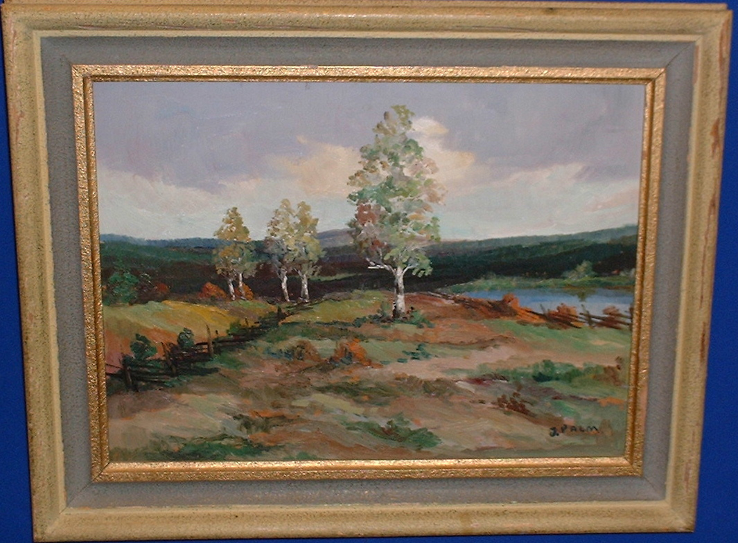 *Torsten Palm! Original oilpainting Rare