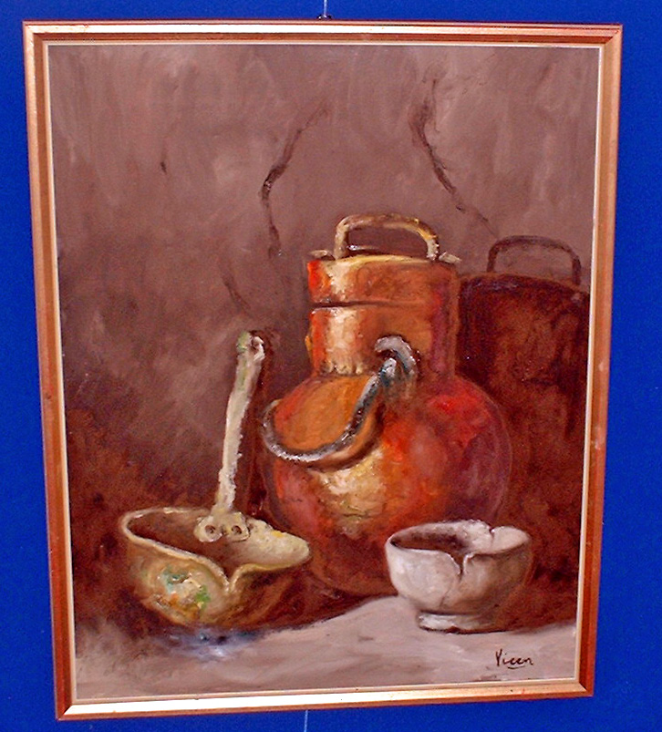 3.India:Ascribed oil painting signed Viren