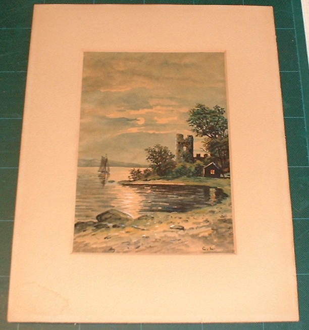 Water colour signed C.L.