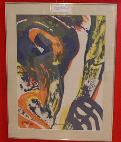Bengt Lindstrom (1925-2008) big signed lithography