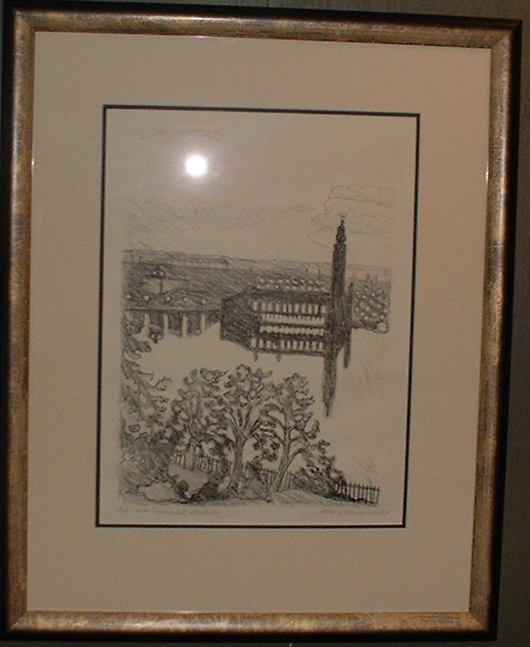 Hilding Linnqvist -57 Summer night Stockholm signed lithography