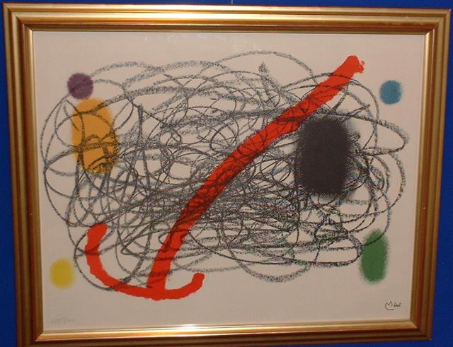 1 Original Miro signed and numbered lithograph