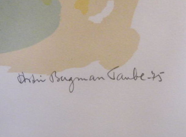 Astri Bergman Taube(1898-1981) signed and numbered litography