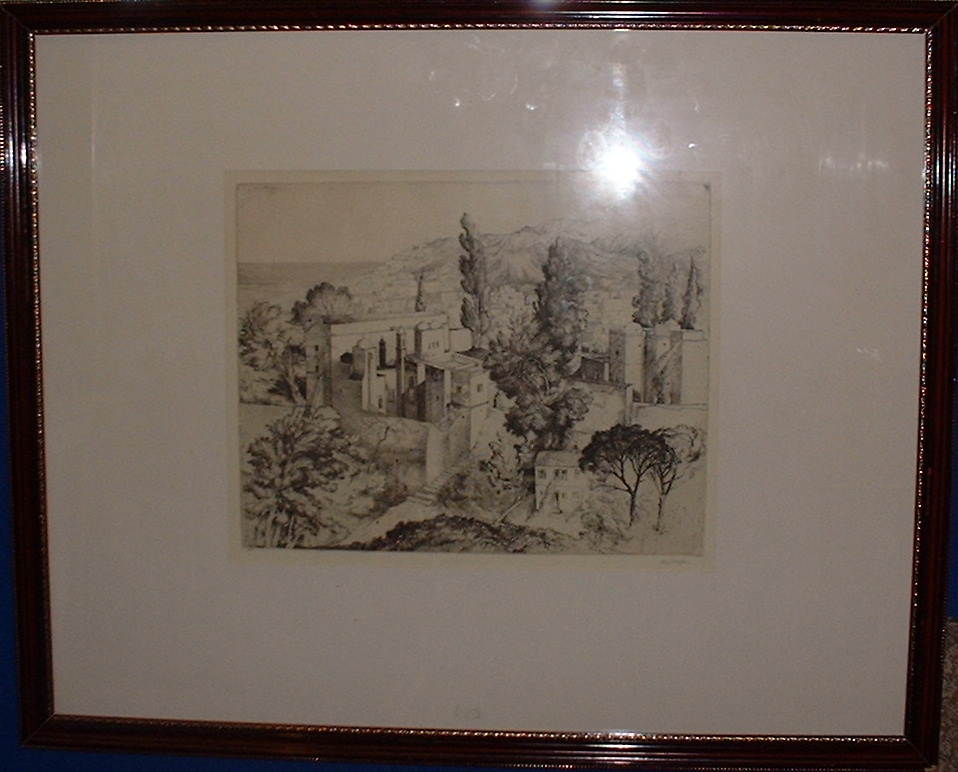 SOLD! 1 Stig Borglind framed etching
