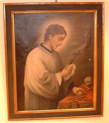 Old master oil painting on canvas. Catholic saint.