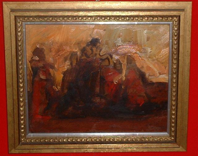 Bo Åke Adamsson Flamenco dancers oil on canvas!