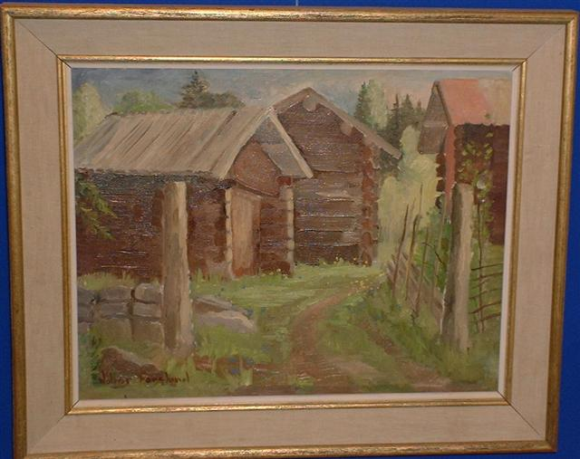 Walter Forslund oil on canvas 17 th century farm!