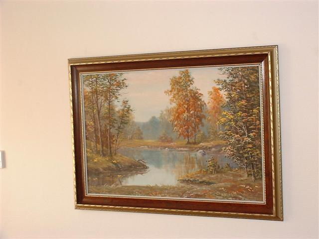 Now: Signed russian(?) oil painting nature landscape