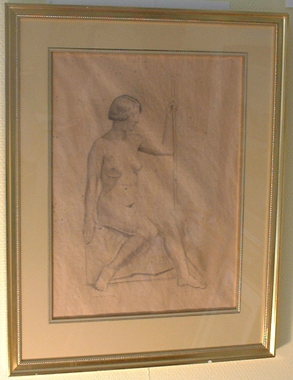 Hans Norsbo original drawing in beautiful frame!