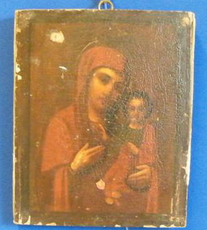 Ikon Mary Theotokos Mother of God Hodegetria late 17th century(?