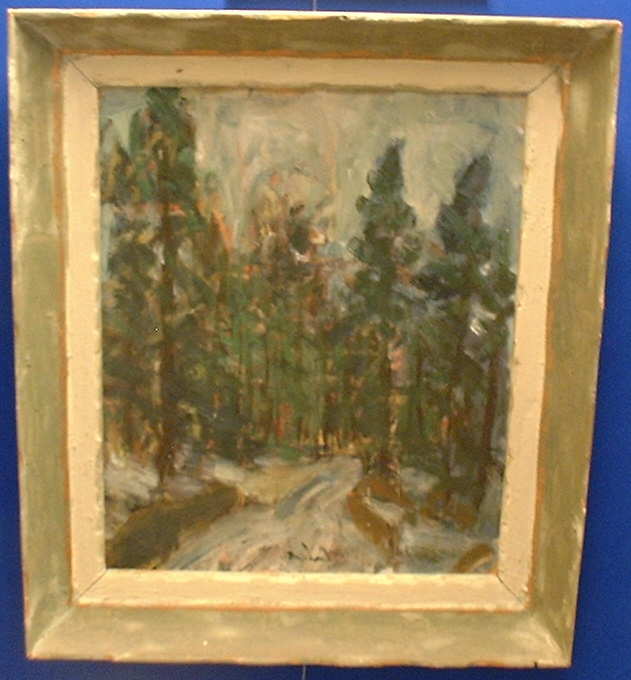2 Oil painting,provenance! Pine forest in Scandinavia SOLD