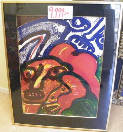 Bengt Lindstrom big framed lithography